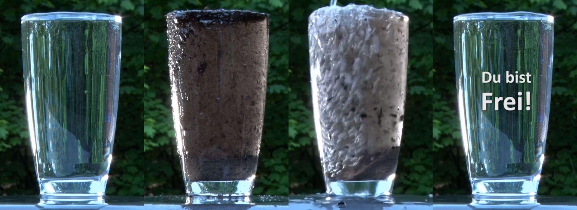 4 Wassergläser klar- verschmutzt - frei 1920x700
