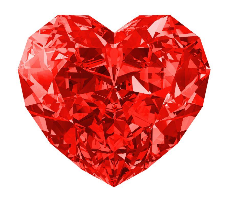 Kristallherz rot 90x78